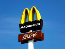 A logo of Mc Donald's Stock Photos