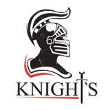 Logo medievale del casco Fotografie Stock