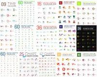 Logo Mega Collection. Abstract geometric business icon set Royalty Free Stock Photos