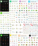 Logo Mega Collection. Abstract geometric business icon set Royalty Free Stock Images