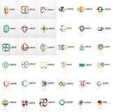 Logo Mega Collection, abstract symmetric geometric business icon set. Vector illustration Stock Photos