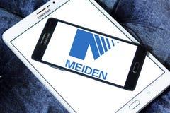 Meidensha Corporation logo. Logo of Meidensha Corporation on samsung mobile. Meidensha manufacturing and selling of generators, substation equipment, water Stock Images