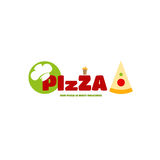 Logo menu pizza for the individual style of your business stock photos