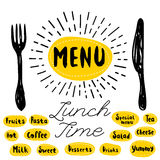 Logo menu set Stock Photography