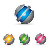 Logo metal sphere Royalty Free Stock Photo