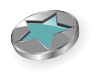 Logo metallic star Royalty Free Stock Image