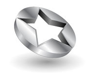 Logo metallic star Royalty Free Stock Photography