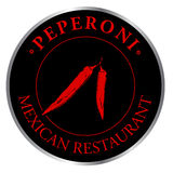 Logo Mexican restaurant Stock Photography