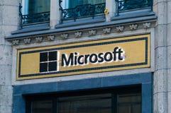 Logo Microsoft i westchnienie fotografia royalty free