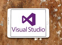 Microsoft Visual Studio logo. Logo of Microsoft Visual Studio on samsung tablet. Microsoft Visual Studio is an integrated development environment IDE from royalty free stock image