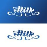 Logo Milk, vector design. Stock Photos