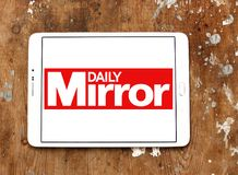 Daily Mirror newspaper logo. Logo of Daily Mirror newspaper on samsung tablet. The Daily Mirror is a British national daily tabloid newspaper founded in 1903 Royalty Free Stock Images