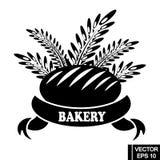 Logo mit Brot lizenzfreie stockfotografie