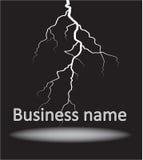 Logo mit dem Blitz Stockfotografie