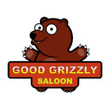 Logo mit einem Karikaturbild eines Bären Lizenzfreies Stockfoto
