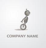 Logo mit nettem Roboter stockfotografie