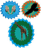 Logo mit Tieren Lizenzfreies Stockfoto