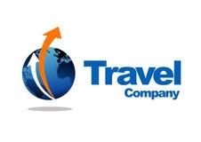 Travel company logo. An illustration of a travel company logo on a white background Stock Photo