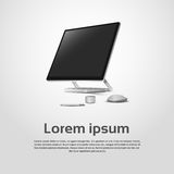 Logo Modern Computer Workstation Icon da tavolino Immagini Stock