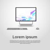 Logo Modern Computer Workstation Icon da tavolino Fotografie Stock Libere da Diritti