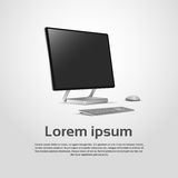 Logo Modern Computer Workstation Icon de bureau illustration stock
