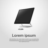 Logo Modern Computer Workstation Icon de bureau Photo stock