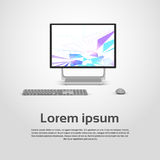 Logo Modern Computer Workstation Icon de bureau Photos libres de droits