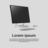 Logo Modern Computer Workstation Icon de bureau illustration libre de droits