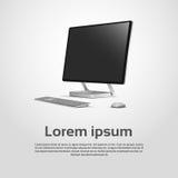 Logo Modern Computer Workstation Icon de escritorio Foto de archivo