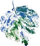 Logo moderne créatif de feuille d'arbre d'eco peint dans l'aquarelle Image stock