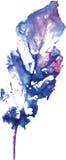 Logo moderne créatif de feuille d'arbre d'eco peint dans l'aquarelle Photo stock