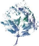 Logo moderne créatif de feuille d'arbre d'eco peint dans l'aquarelle Photos stock