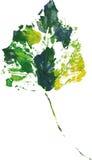 Logo moderne créatif de feuille d'arbre d'eco peint dans l'aquarelle Photos libres de droits