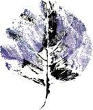 Logo moderne créatif de feuille d'arbre d'eco peint dans l'aquarelle Photographie stock libre de droits