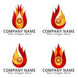 Logo moderne de concept d'énergie Image libre de droits