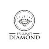Logo moderne de diamant Photos libres de droits