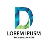 Logo moderne de l'initiale D Image libre de droits