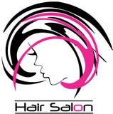 Logo moderne de salon de coiffure Photographie stock libre de droits