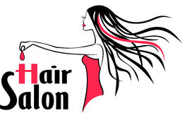 Logo moderne de salon de coiffure Images libres de droits