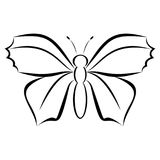 Logo moderne simple de papillon Images stock