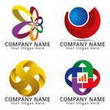 Logo moderno di media Fotografia Stock