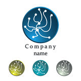 Logo of molecule structure.  DNA icon Royalty Free Stock Photography