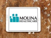 Molina Healthcare company. Logo of Molina Healthcare on samsung tablet. Molina Healthcare is a managed care company. The company provides health insurance to Royalty Free Stock Images