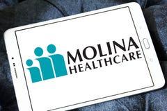 Molina Healthcare company. Logo of Molina Healthcare on samsung tablet. Molina Healthcare is a managed care company. The company provides health insurance to Stock Photos