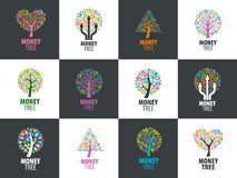 Logo money tree Royalty Free Stock Photography