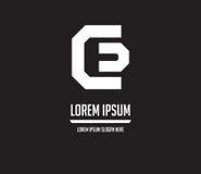 Logo Monogram Design CD Photo libre de droits