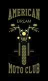 Logo moto club Stock Photography
