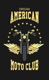 Logo moto club Royalty Free Stock Image