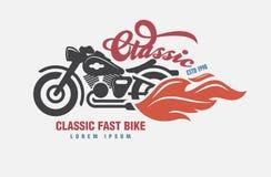 Logo Motor-club etiket, pictogram, wapen Royalty-vrije Stock Afbeelding
