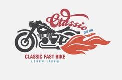 Logo Motor klubba stock illustrationer